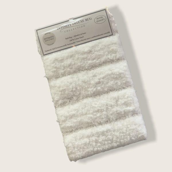 Alfombra de Baño Deluxe Bloques Blanca