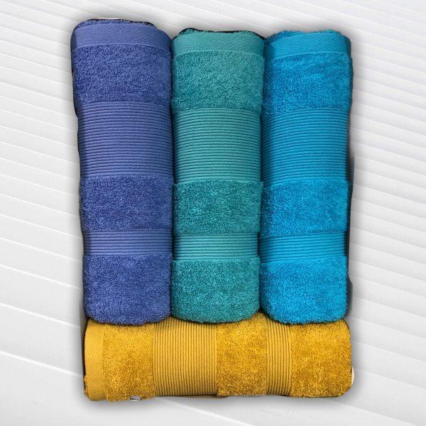 Juego Toalla y Toallon Arco Iris Detroit varios colores