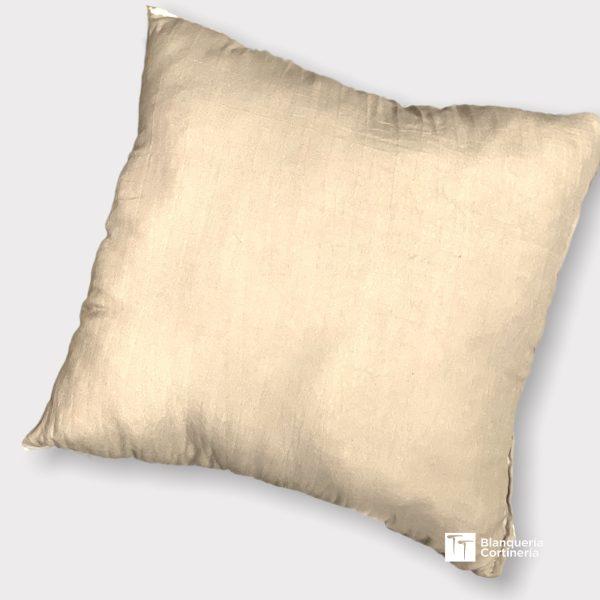 Almohadon relleno de vellon color natural